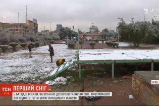 У Багдаді вперше за останнє десятиліття випав сніг