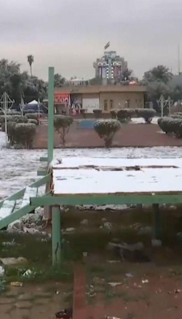 В Багдаде впервые за последнее десятилетие выпал снег
