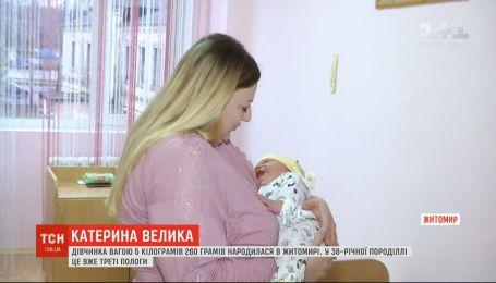 В Житомире родилась девочка весом более 5 килограммов и ростом 60 сантиметров