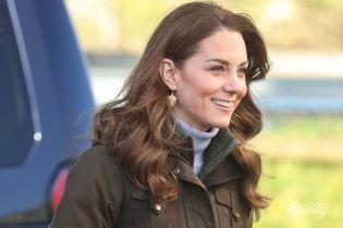 У старому, але улюбленому вбранні: герцогиня Кембриджська приїхала на ферму