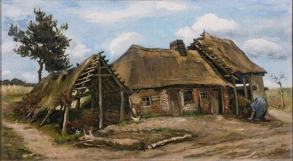 """""""Селянка перед фермерським будинком"""", Ван Гог"""