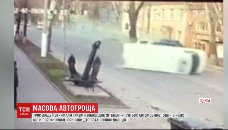 ДТП в Одессе: три человека травмированы, пять автомобилей разбиты