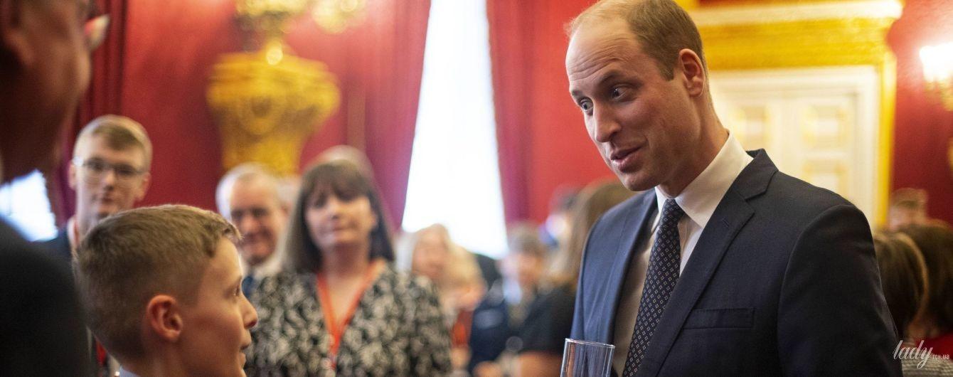 Со стаканом вместо бокала: принц Уильям провел прием в Сент-Джеймсском дворце