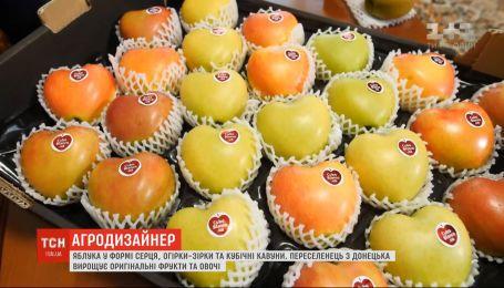Яблоки в форме сердца и огурцы-звезды: переселенец из Донецка выращивает оригинальные фрукты и овощи