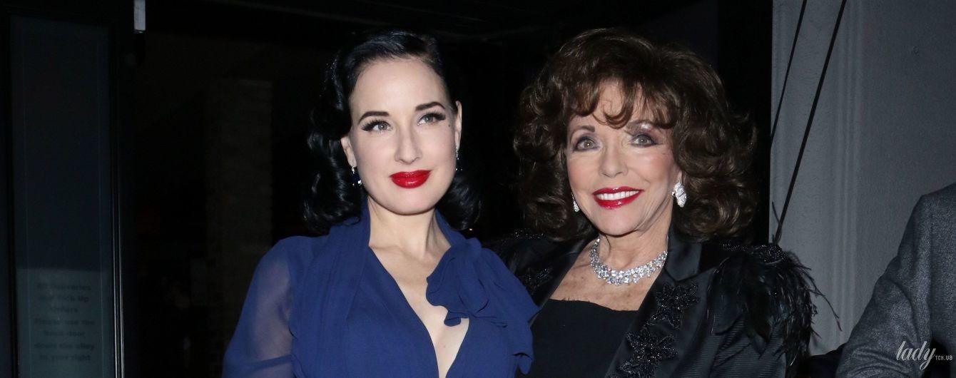 З червоною помадою і в блузці з сексуальним декольте: Діта фон Тіз на вечері в Лос-Анджелесі