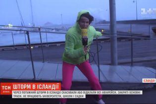 Мощный шторм парализовал столицу Исландии