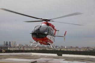 В Україні вдруге гелікоптером доправили тяжкохворого до Інституту серця в Києві