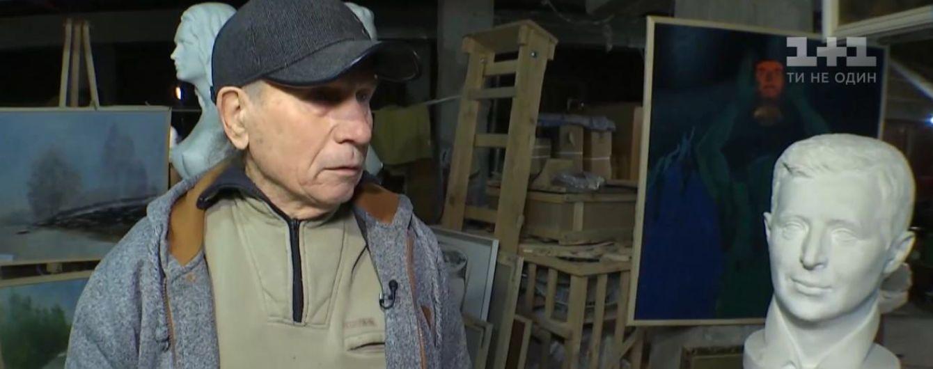 """""""Король мармуру"""". Визнаний у світі скульптор сім років живе з родиною у підвалі школи в Переяславі"""