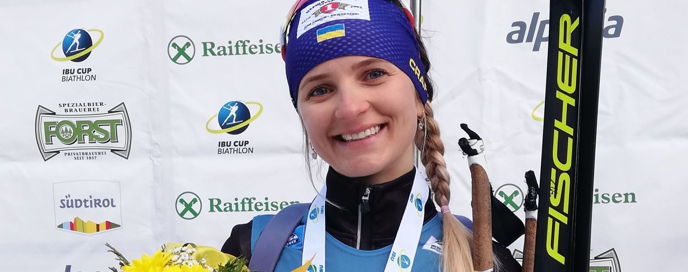 """Украинская биатлонистка выиграла """"бронзу"""" на Кубке IBU в Италии"""