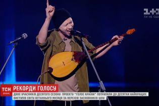 """Одразу два учасники українського """"Голосу"""" потрапили у рейтинг найкращих виступів у всьому світі"""