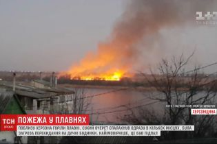 Пожар произошел в плавнях под Херсоном: чрезвычайники подозревают поджог