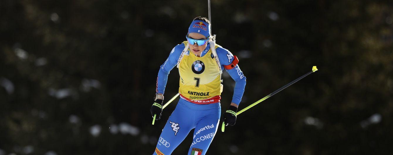 Итальянка Вирер выиграла гонку преследования на Чемпионате мира по биатлону, двое украинок в топ-20