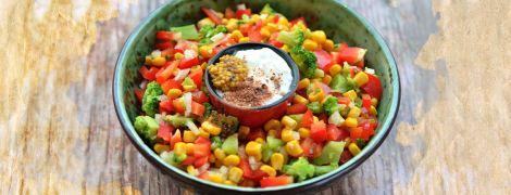 Яркий салат с брокколи