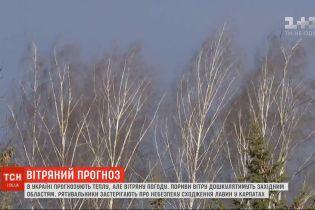 Синоптики прогнозируют теплую, но ветреную погоду в Украине