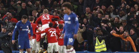 """""""Манчестер Юнайтед"""" обыграл """"Челси"""" в Лондоне, два гола """"синих"""" отменили после просмотра VAR"""