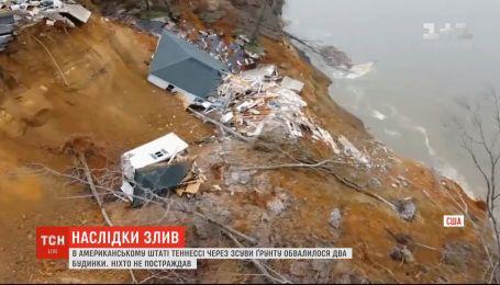 В результате наводнений снесло два дома в американском Теннесси