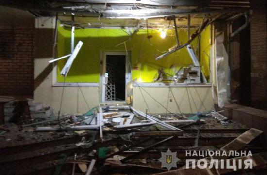 У Запоріжжі вночі підірвали банкомат в житловому будинку