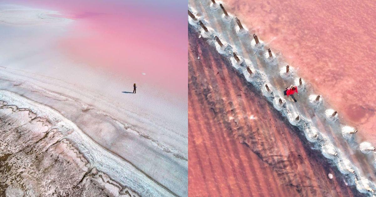 Фотограф з України показав знімки рожевого озера Херсонщини і потрапив до шортлиста престижної премії
