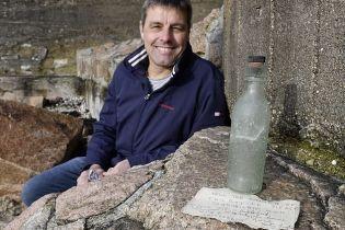 Британец случайно нашел бутылку с 82-летним посланием во время прогулки по острову