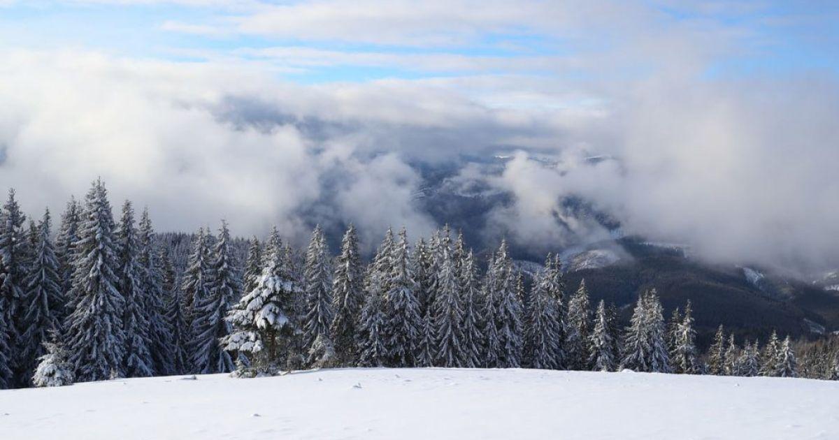 В Карпатах выпал почти метр снега