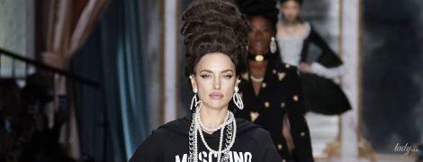 Блистала на подиуме: Ирина Шейк на показе Moschino в Милане