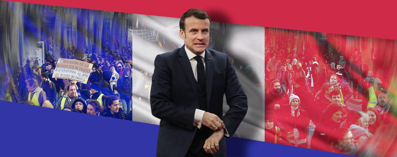 Як пенсії остаточно посварили французів з Макроном