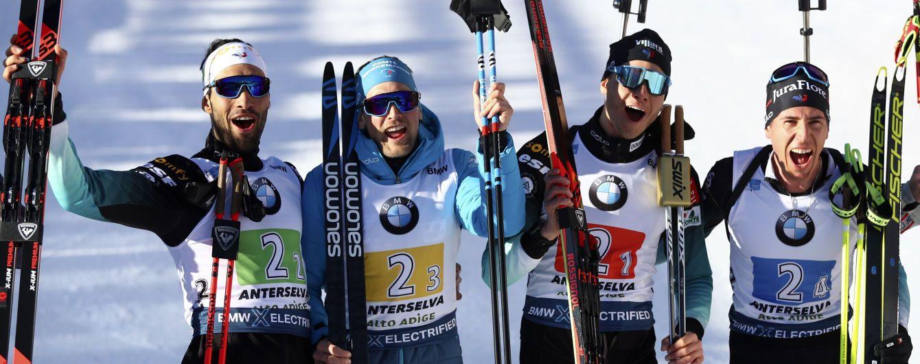 Франція виграла чоловічу естафету на Чемпіонаті світу з біатлону, Україна - 12-та