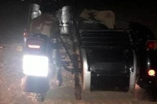 В Одесской области пьяный полицейский перевернулся на мотоцикле - пассажир погиб