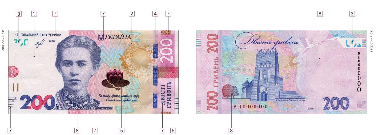 Банкнота. 200 гривень