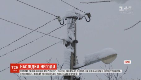 Из-за непогоды в Украине обесточены более 250 населенных пунктов