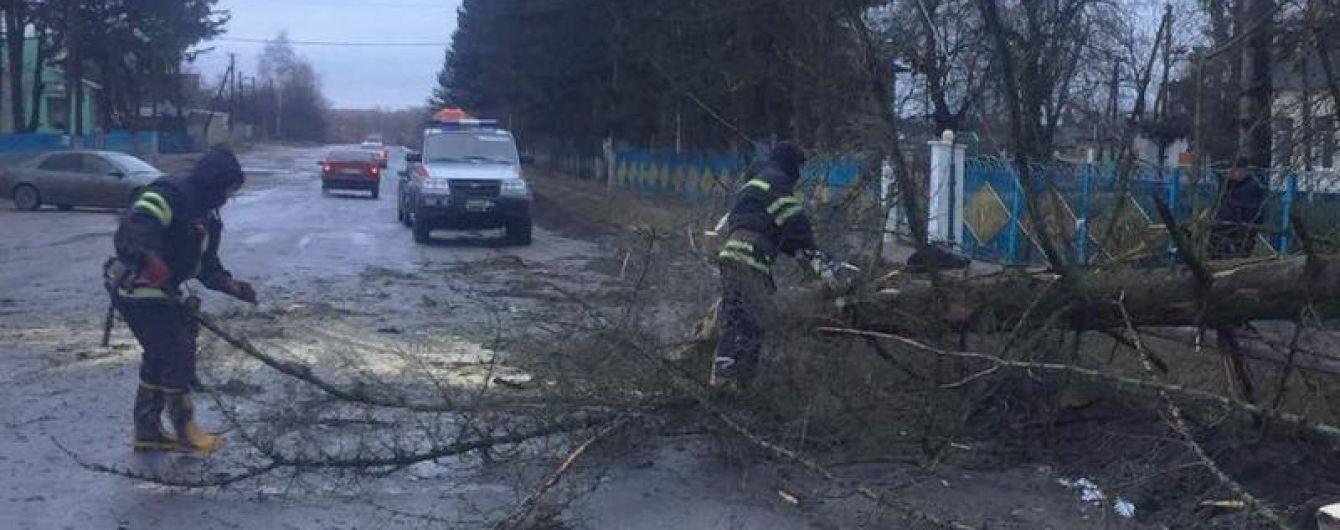 Зірвані дахи, повалені дерева, пошкоджені балкони: рятувальники ліквідовують наслідки негоди в Україні