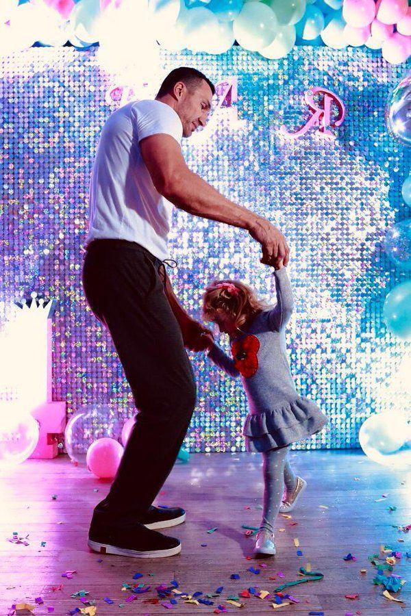 Володимир Кличко з дочкою