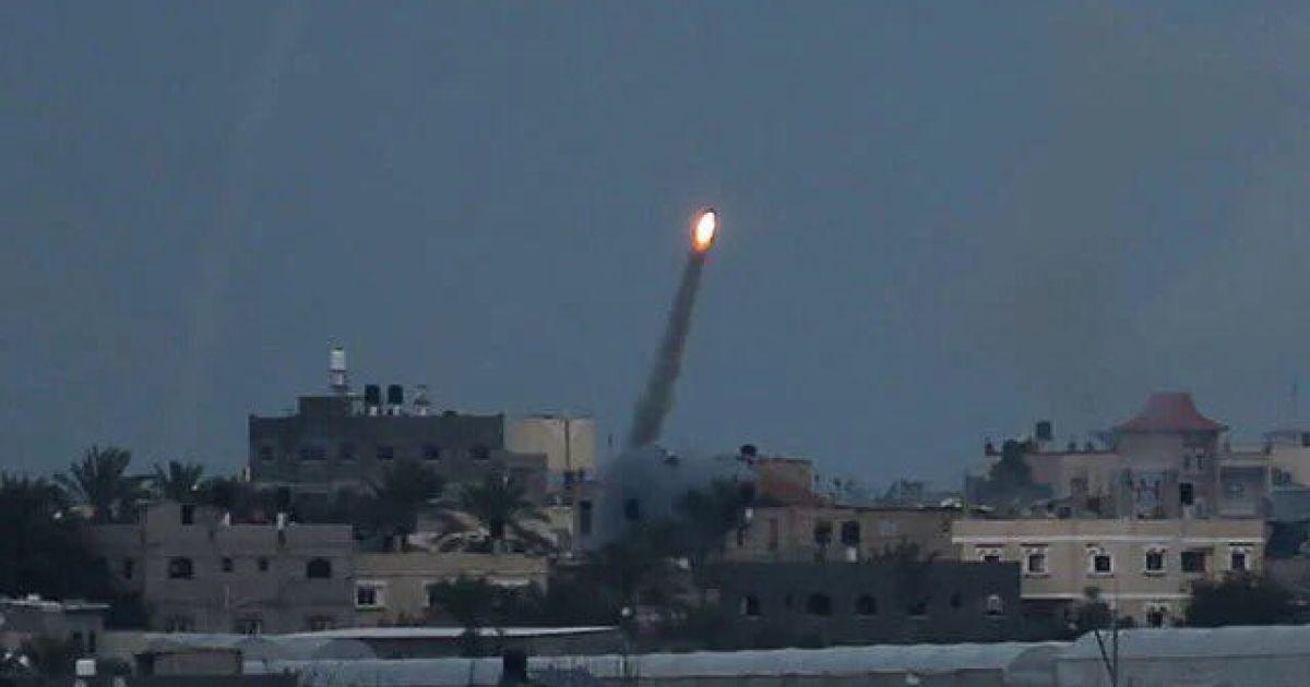 Израиль отреагировал на выпущенную из Палестины ракету и нанес удары в ответ