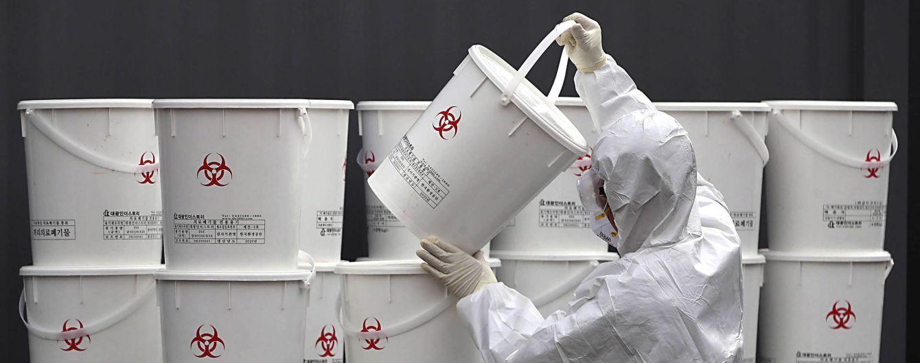 У Південній Кореї кількість хворих на коронавірус перевищила 1500 осіб