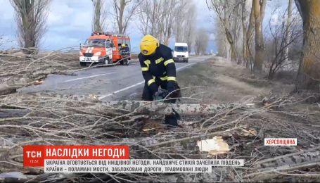 Сильний вітер зносив дахи, валив дерева й електродроти – наслідки негоди в Україні