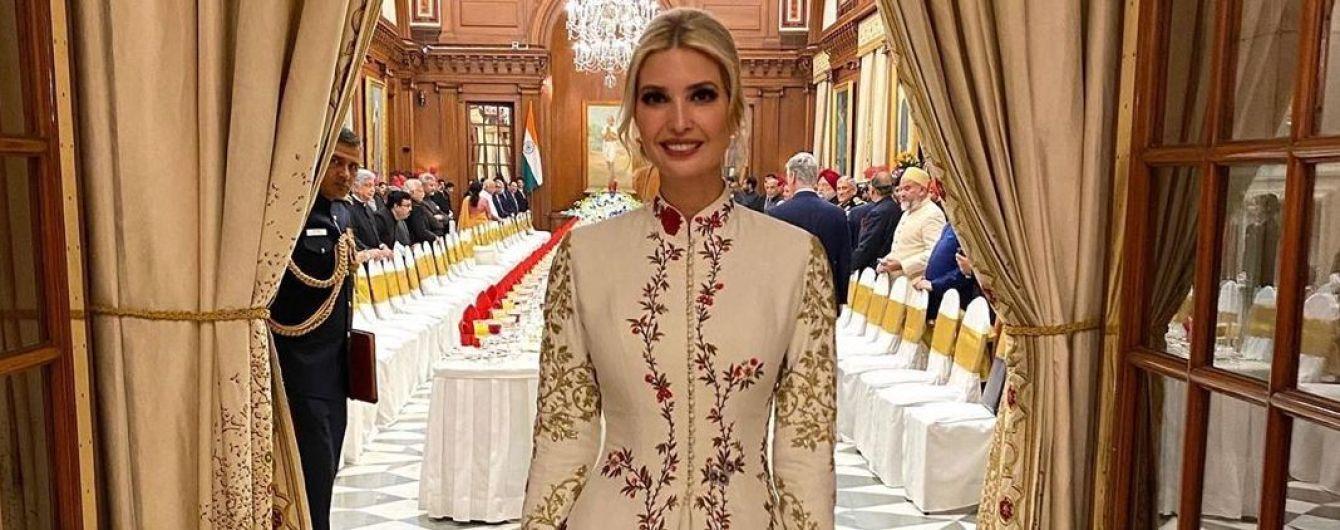Їй пасує: Іванка Трамп з'явилася на урочистій вечері у розкішній квітковій сукні