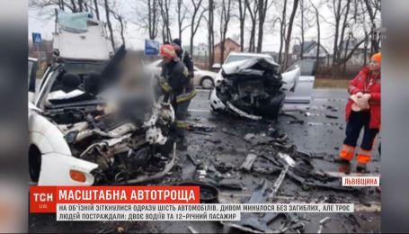 У Львівській області лобом у лоб зіткнулися позашляховик та легковик, є загиблі