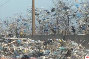 Село в мусоре: в Николаевской области ураган разнес со свалки тонны отходов