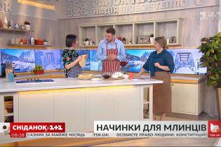 Историк Елена Брайченко рассказала интересные факты из истории блинов и приготовила блины с начинкой