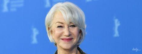В стильном костюме и с розовой помадой: 74-летняя Хелен Миррен на кинофестивале в Берлине