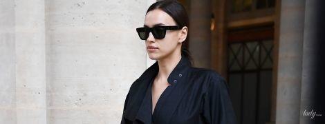 Красотка в черном: Ирина Шейк приехала на Парижскую неделю моды