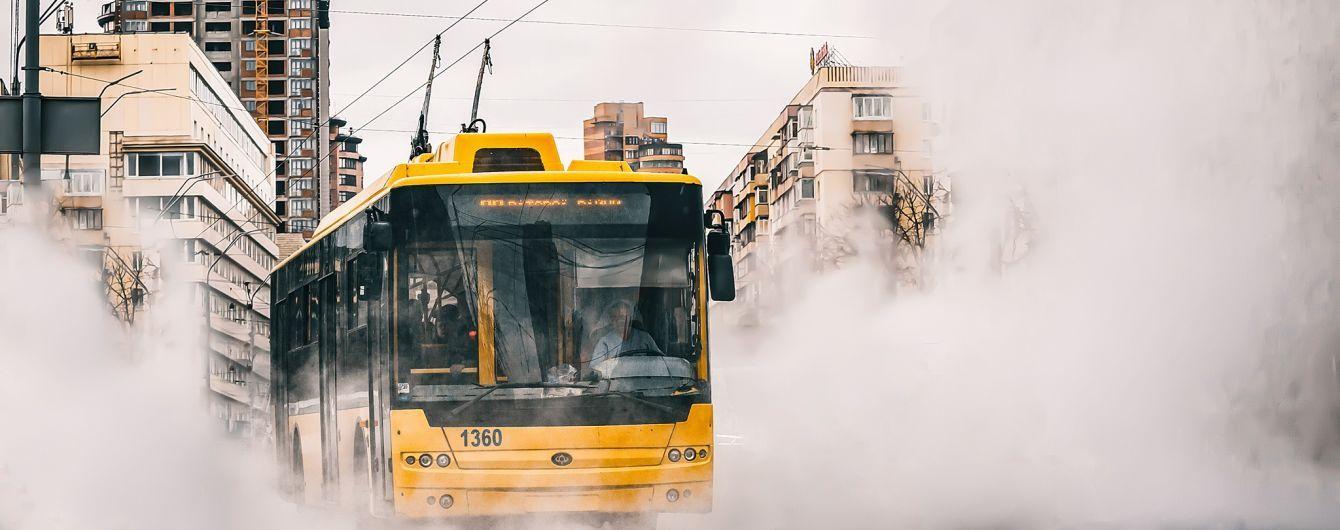 У Києві стоять трамваї та тролейбуси через аварії