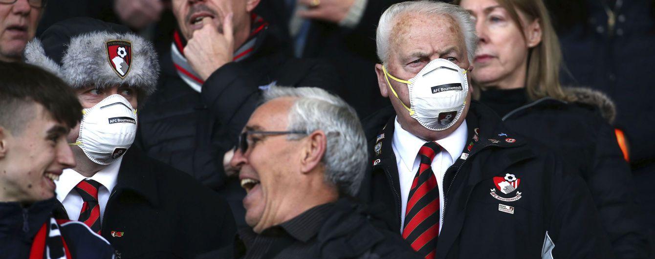 В Англии приостановили футбольные матчи, АПЛ на карантине минимум до апреля