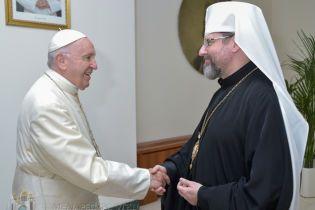 Папа Римский, несмотря на недомогание, встретился с главой УГКЦ и получил от него символический подарок