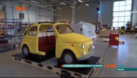 Итальянцы собрали Fiat-500 с деталей детского конструктора