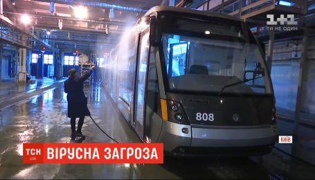 Как в общественном транспорте Киева борются с распространением инфекций