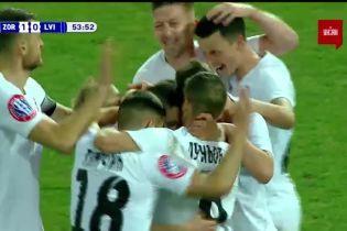 Заря - Львов- 1:0. Видео гола Кабаева
