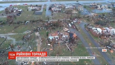 Два мощных торнадо пронеслись американским штатом Теннесси