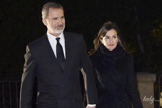 В черном аутфите: сдержанный образ испанской королевы Летиции