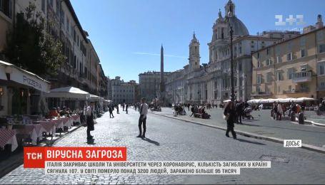 Через коронавірус Італія закриває школи та скасовує футбольні матчі